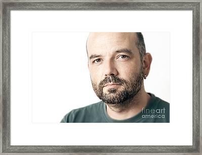 Bearded Man Framed Print