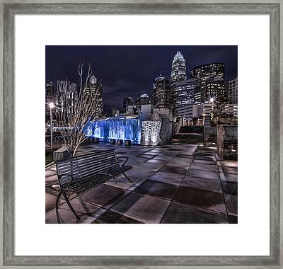 Bearden Bench Framed Print by Chris Austin
