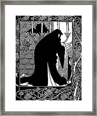 Beardsley Guinevere Framed Print by Granger