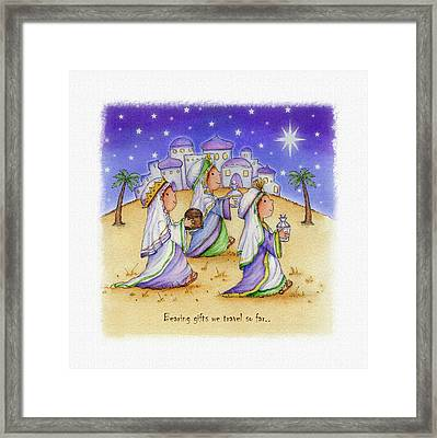 Bearing Gifts Framed Print by P.s. Art Studios
