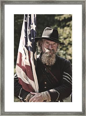 Bearing Old Glory D0256 Framed Print by Wes and Dotty Weber