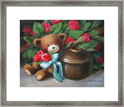 Bearing Roses Framed Print by Sue Cervenka