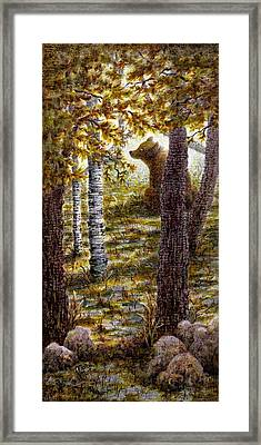 Bearly There Framed Print