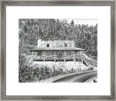 Bearry Springs Hunting Camp Framed Print