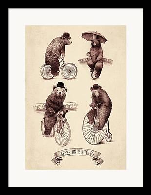 Bear Drawings Framed Prints