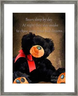 Bears Sleep By Day Framed Print