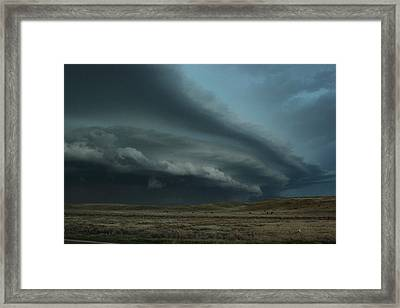 Framed Print featuring the photograph Beast In Montana by Ryan Crouse