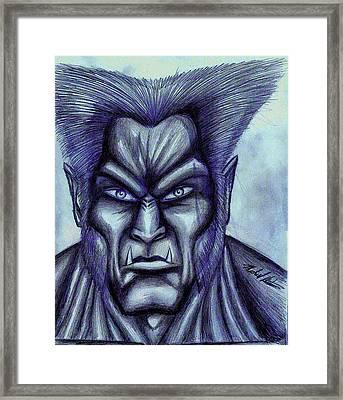 Beast Framed Print by Michael Mestas