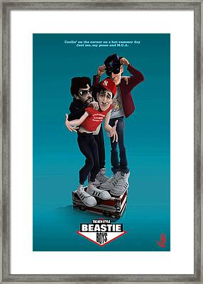 Beastie Boys_the New Style Framed Print by Nelson Dedos Garcia