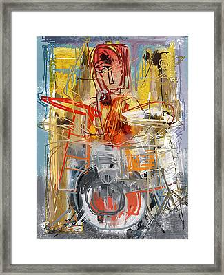 Beat Banging Framed Print