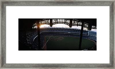 Beatiful View Of Old Yankee Stadium Framed Print by Retro Images Archive