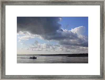 Framed Print featuring the photograph Beating The Storm by Amazing Jules
