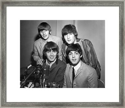 Beatle Interview Framed Print by Retro Images Archive