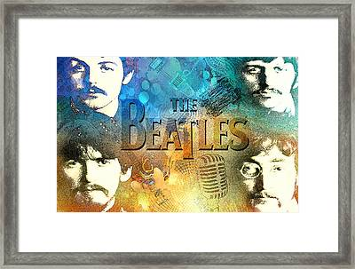 Beatle Montage Framed Print by Greg Sharpe