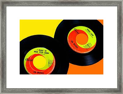Beatles 50th Anniversary Framed Print by Diana Angstadt