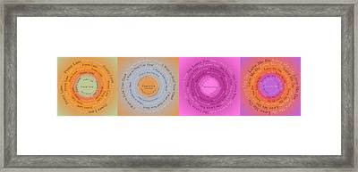 Beatles Circle Of Songs Panorama 1 Framed Print by Andee Design