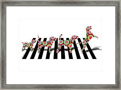 Beatles Dogs Framed Print by Mark Ashkenazi