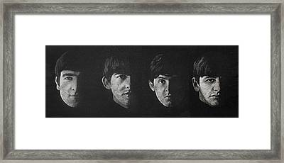 Beatles Faces Framed Print