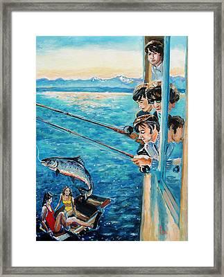 Beatles Fishing  Framed Print