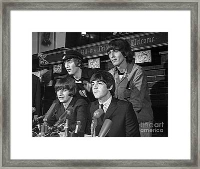 Beatles In Chicago Framed Print