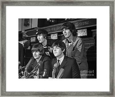 Beatles In Chicago Framed Print by Martin Konopacki Restoration