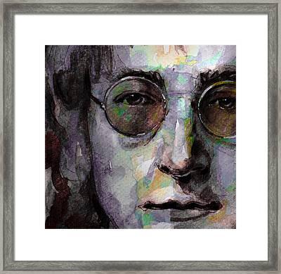Beatles - John Lennon Framed Print by Laur Iduc