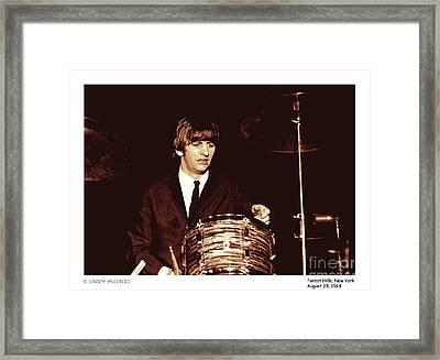 Beatles Ringo Color Framed Print