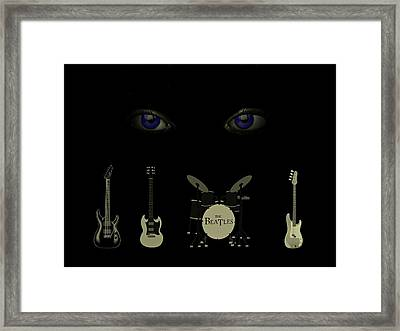 Beatles Something Framed Print by David Dehner