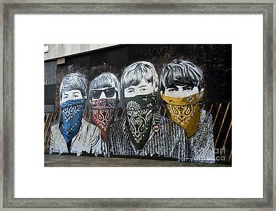 Beatles Street Mural Framed Print by RicardMN Photography