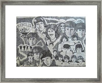 Beatles Tribute Framed Print by Susan Plenzick
