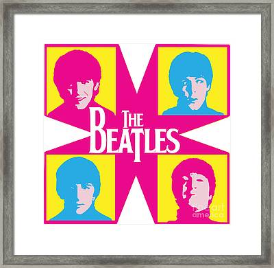 Beatles Vinil Cover Colors Project No.01 Framed Print by Caio Caldas