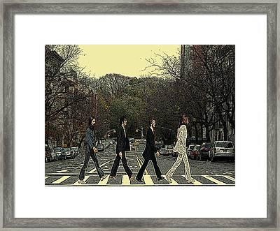 Beatles Walk New York Framed Print by Movie Poster Prints
