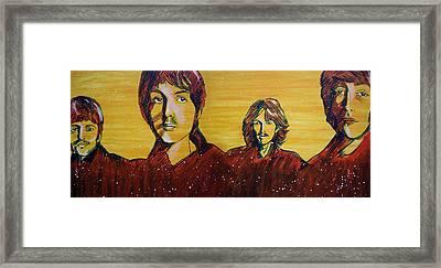 Beatles Widescreen Framed Print