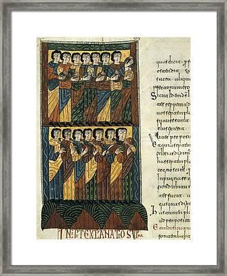 Beatus Of Liebana. 10th C. Fol 122v Framed Print by Everett