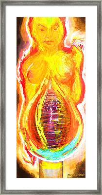 Beau Flambeau A Fire Girl Framed Print by Del Gaizo
