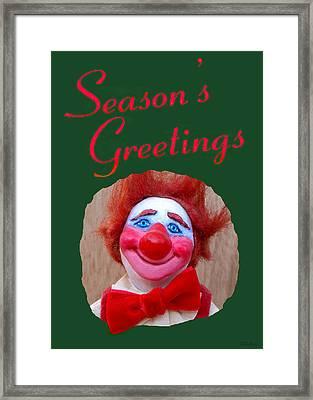 Beau - Season's Greetings Framed Print by David Wiles