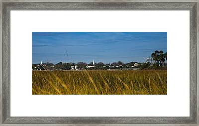 Beaufort Sc Waterfront Framed Print