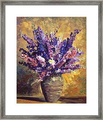 Beaujolais Bouquet Framed Print by David Lloyd Glover