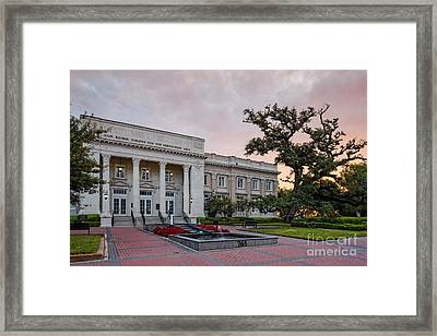 Beaumont City Hall At Sunrise - East Texas Framed Print by Silvio Ligutti