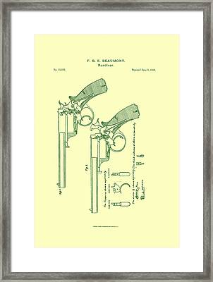 Beaumont Revolver Patent Framed Print by Georgia Fowler