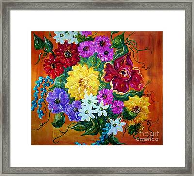 Framed Print featuring the painting Beauties In Bloom by Eloise Schneider