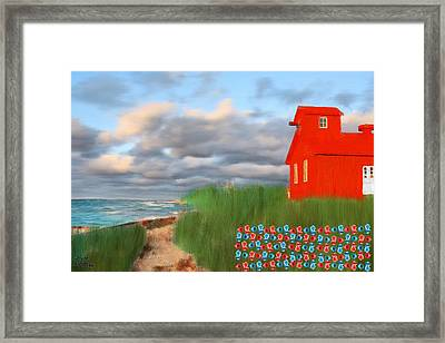 Beautification Of A Lighthouse Framed Print by Bruce Nutting