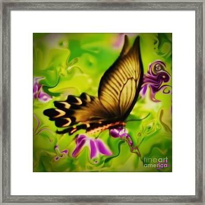 Beautifly Framed Print by SusanMarie StudioZ