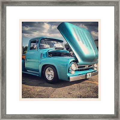 Beautiful '56 Framed Print by Mike Maher
