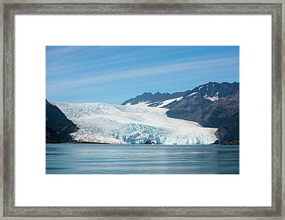Beautiful Aialik Glacier In Kenair Framed Print