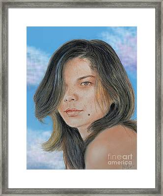 Beautiful And Sexy Actress Jeananne Goossen IIi Altered Version Framed Print
