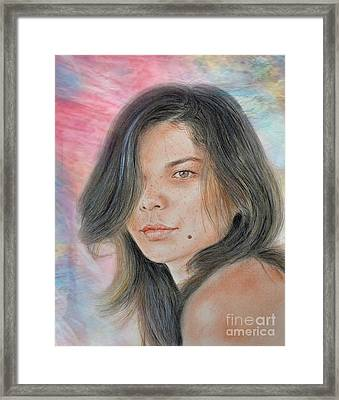 Beautiful And Sexy Actress Jeananne Goossen Iv Altered Version Framed Print