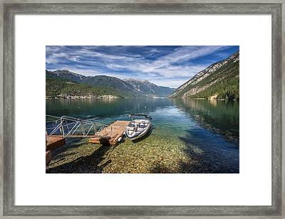 Beautiful Anderson Lake British Columbia Framed Print by Pierre Leclerc Photography