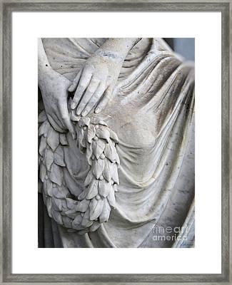 Beautiful Angel Healing Touch Framed Print by Ella Kaye Dickey