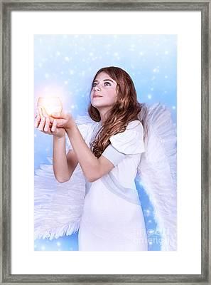 Beautiful Angel Praying Framed Print